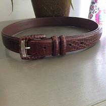 Beautiful Croc Stamped Ralph Lauren Belt New Sz Xs Photo