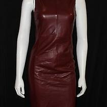 Beautiful Designer Bally Mahogany Leather Dress Size 38 Excellent Condition.   Photo