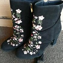 Beautiful Embroidered  Black Sam Edelman Boots Size 10m Photo