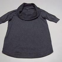 Beautiful Express Cowl Neck Short Sleeved Sweater - Size Xs - Gray - Cozy & Cute Photo