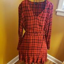 Beautiful Express Red and Black Flannel Wrap Dress Photo