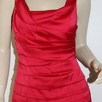 Beautiful Express Red Ruched Sleeveless Summer Top - Size Xsmall Photo