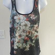 Beautiful Express Summer Top Size Small Black/ Multicolor Sequins Photo