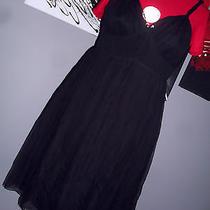 Beautiful Fendi Black Silk Corset Dress Nwt Size44 Photo