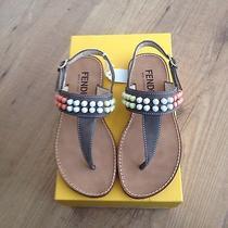 Beautiful Fendi Sandals With Pastel Studs Size 32 Bnib Stunning Tag Price 238 Photo