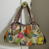 Beautifulfloral Print Colorful Fossil Brand Large Shoulder Bag Purse Nice Photo