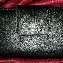 Beautiful Fossil Black Leather Wallet Perfect Condition  Photo
