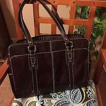 Beautiful Fossil Leather Laptop Tote Photo