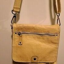 Beautiful Fossil Yellow Leather Shoulder Bag Purse  Photo
