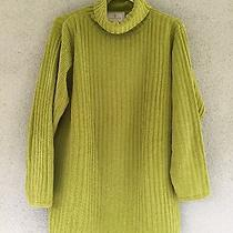 Beautiful Funky Green Oversized Women's Size Medium Sweater Express Tricot Photo
