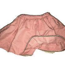 Beautiful Girls Linen Baby Peach Skirt 3-6 Months Photo