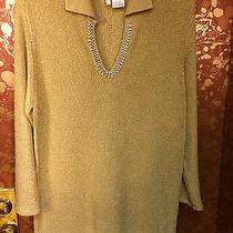 Beautiful Givenchy Golden Sweater With Rhinestones. Photo