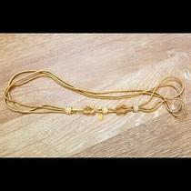 Beautiful Gold Chain Belt With Rhinestone Details Size Small Photo