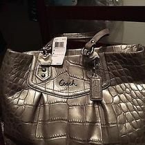 Beautiful Gray Coach Purse Photo