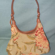 Beautiful Green Floral Fabric Handbag by Fossil Photo