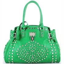 Beautiful Green Studded and Rhinestone Hobo Bag Ladies Purse Photo