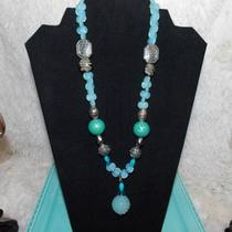 Beautiful Handmade Aqua Necklace . One of a Kind Necklace.  Have M Photo