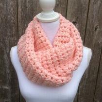 Beautiful Handmade Scarf/ Neck Warmer/ Infinity  ( Blush/pink) Photo