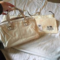 Beautiful Ivory Coach Purse - F25296 - Excellent Condition Photo