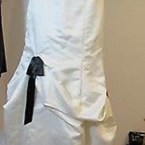 Beautiful Jessica Mcclintock Ivory Black Trim & Vows Pick Ups Wedding Dress Sz 4 Photo