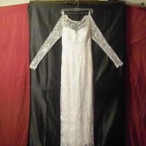 Beautiful Jessica Mcclintock White Lace Wedding Dress Nwt Size 8 Msrp 300.00 Photo