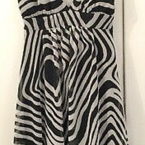 Beautiful Ladies Black and White Charlotte Russe Party Dress Size Small Photo