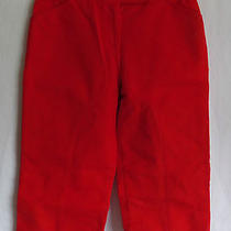 Beautiful Ladies David Meister Red Capris Cropped Pants Size 4 Photo