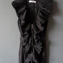 Beautiful Lanvin Black Cropped Dress Size 36 Photo