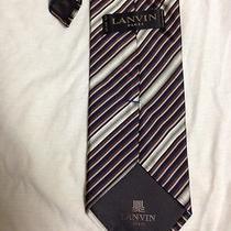 Beautiful Lanvin Striped  Necktie  Photo