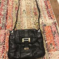 Beautiful Liz Claiborne Black Leather Convertible Strap Purse Euc Photo