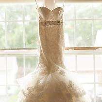 Beautiful Maggie Sottero Adalee Swarovski Mermaid Wedding Dress Gown Size 0-2 Photo