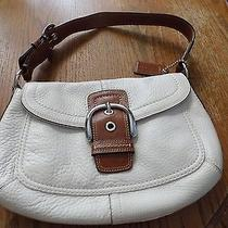 Beautiful Never Used Authentic Coach White Purse So Sweet Photo