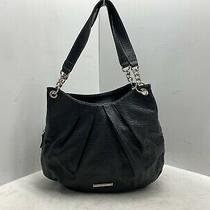Beautiful Nine West Handbag Purse Black Color Pebble Leather With Black Insides Photo