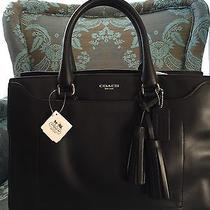 Beautiful Nwt Coach Pinnacle Leighton Carryall Handbag - Onyx Black Photo
