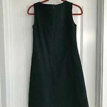 Beautiful Nwt Dark Green Lafayette 148 Crepe Dress Size Xs Retail 498 Photo