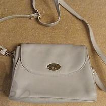 Beautiful Off White Leather Handbag by  Etienne Aigner  Photo