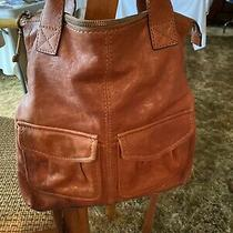 Beautiful Orange Fossil Leather Pebbled Handbag Roomy  Photo