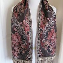 Beautiful Oscar De La Renta Designer Ladies Silk Scarf 12