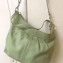 Beautiful Pear Green Coach Handbag Purse A1059-F13764 Photo