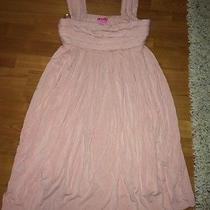 Beautiful Pink Bcbgirls Bcbg Pleated L Wedding Clubbing Casual Beach Wear Dress Photo
