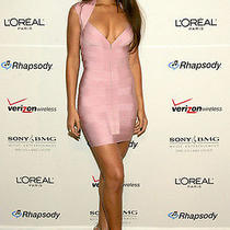Beautiful Pink Herve Leger Dress Photo