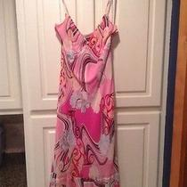 Beautiful Pink Silk Express Dress Size 10 Euc Photo
