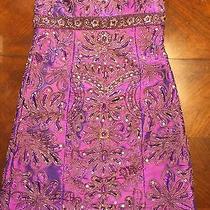 Beautiful Purple Beaded Prom Dress Size 6 Photo