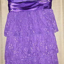 Beautiful Purple Torrid Lace Holiday Formal Short Cocktail Dress 16 Photo