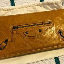 Beautiful Rare Balenciaga Jaune Yellow Compagnon Wallet City Bag Purse Pouch Photo