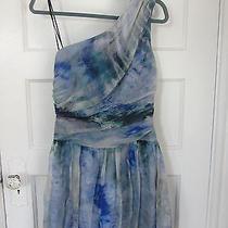 Beautiful Sexy Summer Dress - Abs - 4 - Blue - One Shoulder - Allen Schwartz Photo