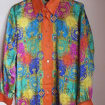 Beautiful Silk Escada Shirt - Bright Colors - Size 36  Photo