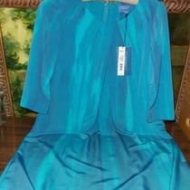 Beautiful Simply Vera Wang Aqua Watercolor Dress Size 2- New Photo