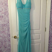 Beautiful Size 13 Aqua Blondie Nites Halter Top Prom/formal Dress Photo