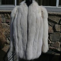 Beautiful Snow Spotted Lynx Dyed Blush Fox Fur Jacket Coat Photo